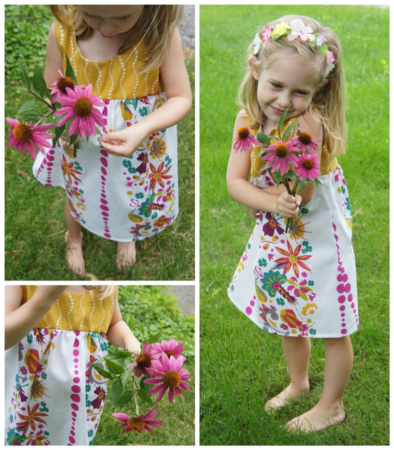 Girl's flower dress
