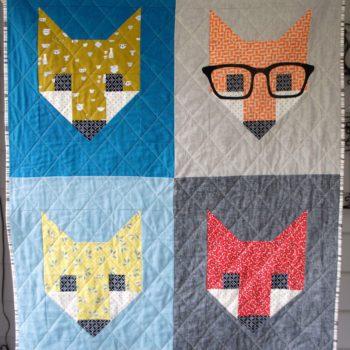 fancy fox baby quilt